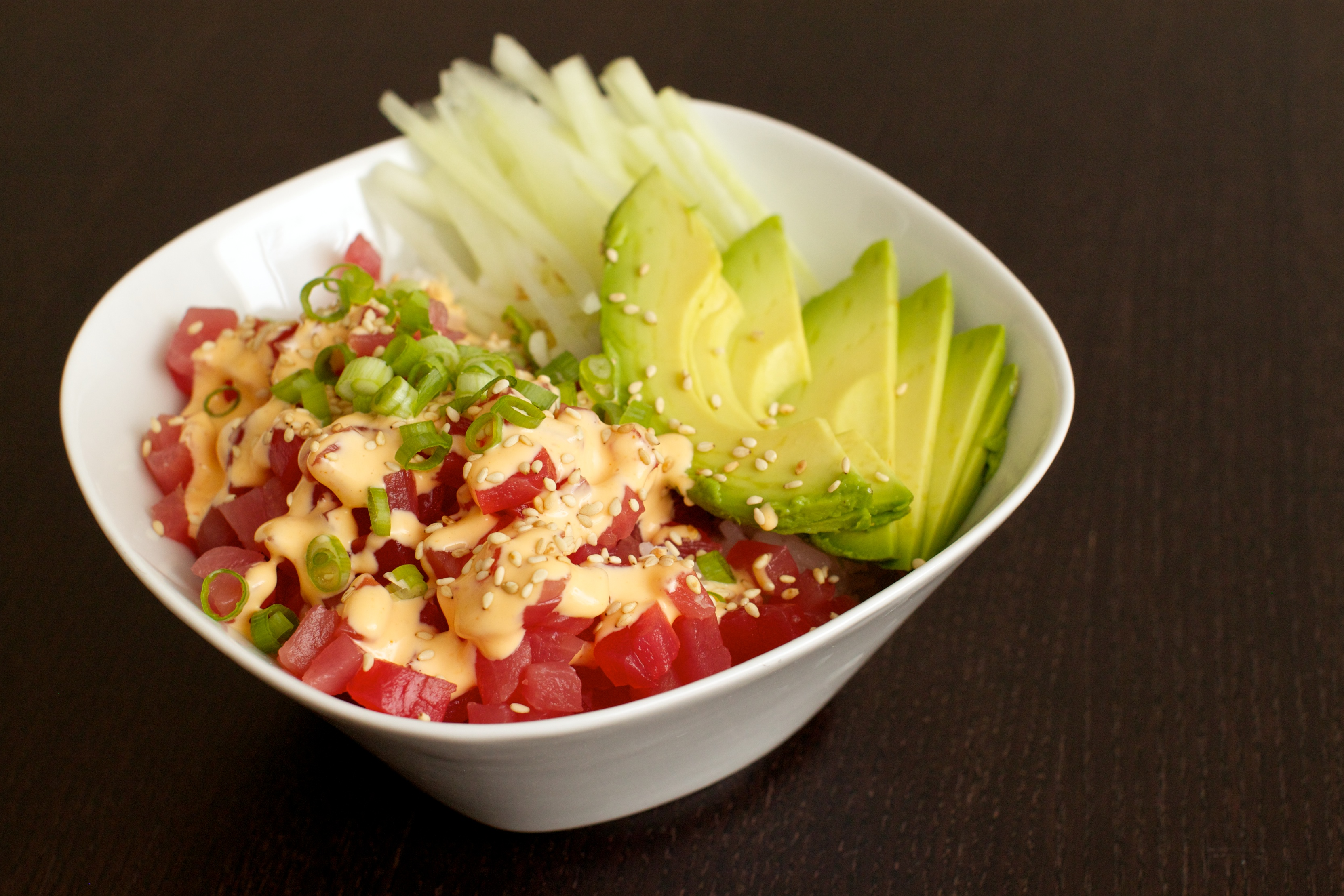 the missing lokness spicy tuna rice bowl