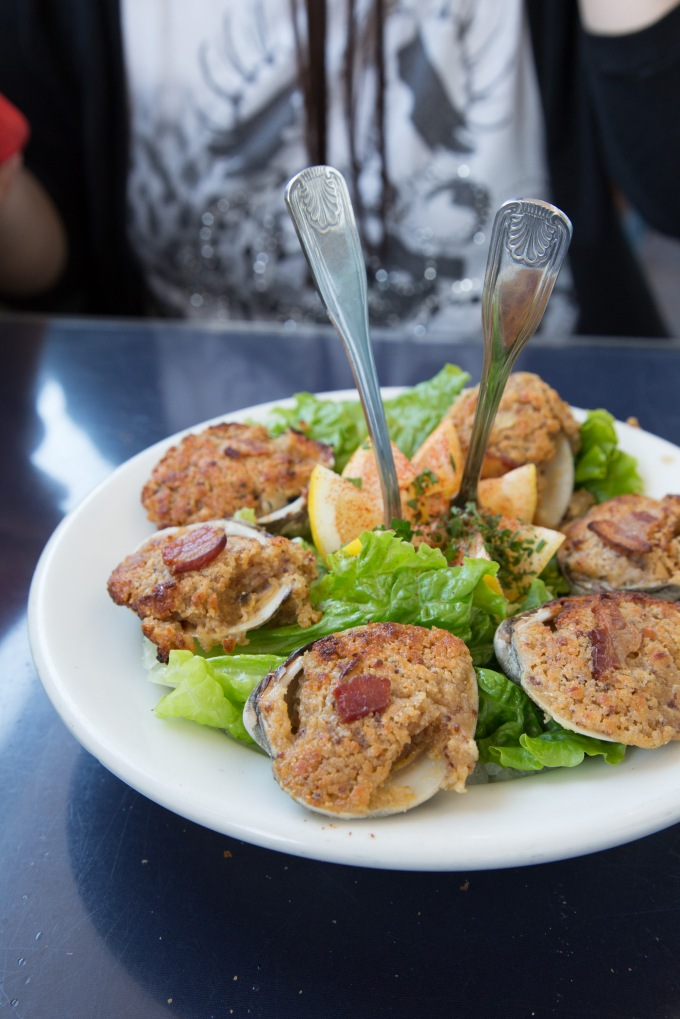 Garlic Baked Clams @ Brophy Bros