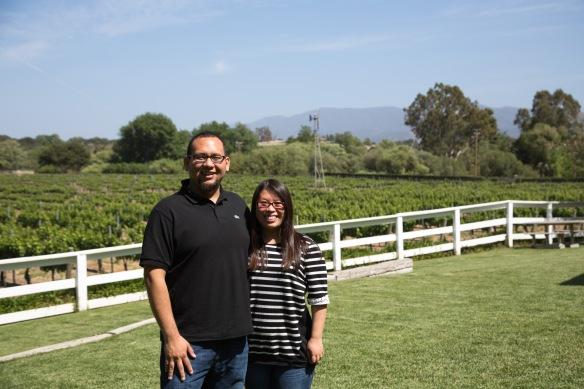 Bryan and I @ Lincourt Vineyards