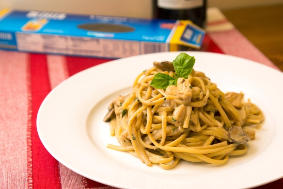 Linguine with Marsala Cream Sauce