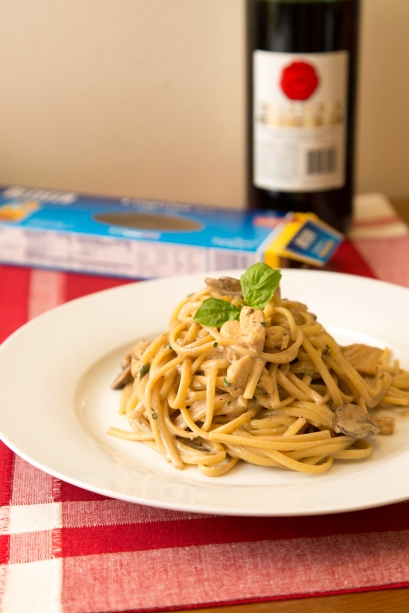 Linguine with Marsala Cream Sauce 2