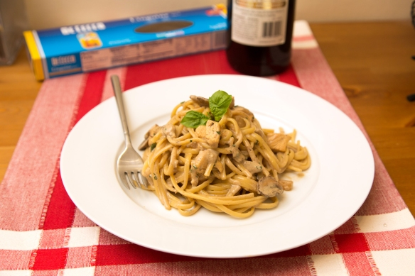 Linguine with Marsala Cream Sauce 3