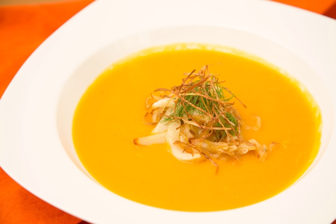 Butternut Squash Soup with Leeks and Fennel2