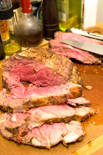 Roast Prime Rib with Thyme Au Jus