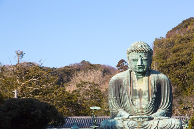 Giant buddha in Kotokuin Temple